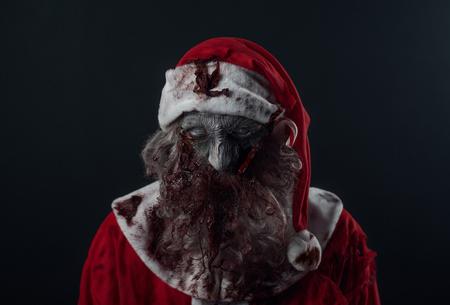 Halloween Zombie Santa in studio