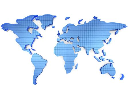 3d world map.High resoulation render. Stock Photo - 4062083