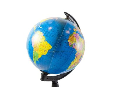 World globe map isolated in white