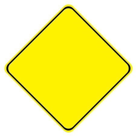 achtung schild: Gelbe leere Zeichen auf wei�em Hintergrund