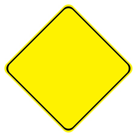 Yellow Blank Sign on White Background Stock Photo - 9547004