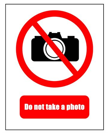no way out: No photography markers on white background Stock Photo