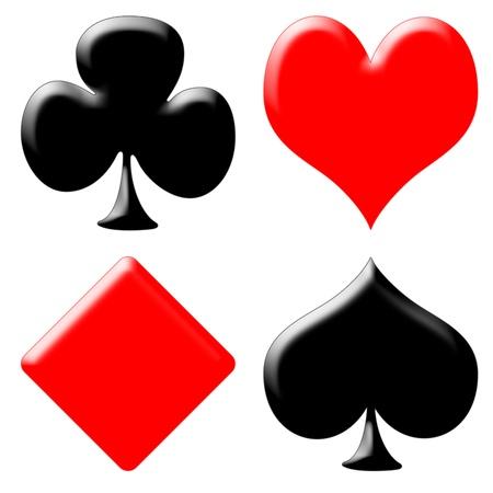 as de picas: Tarjeta de juego de p�quer Foto de archivo