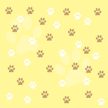 Paw Prints Background Stock Photo - 9657129