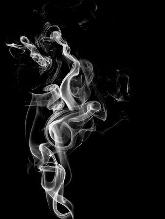 Smoke curls Stock Photo