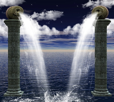 a nocturne: sea columns