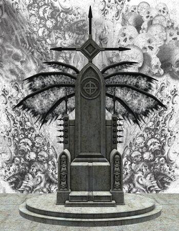 trono real: trono oscuro Foto de archivo
