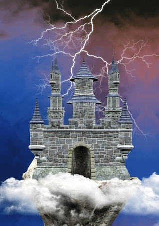 marvelous: Fantasy castle Stock Photo