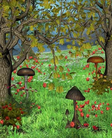 Enchanted nature series - fantasy lawn photo