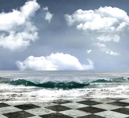 ocean floor: beautiful seascape background  Stock Photo