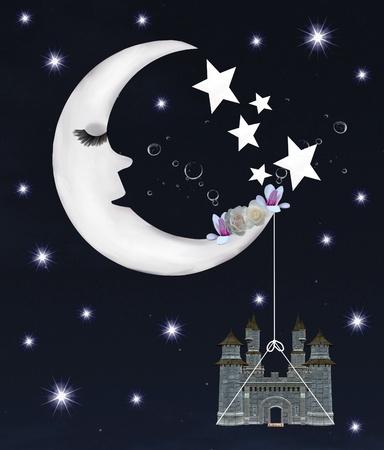 Dreamland series - romantic crescent moon  photo