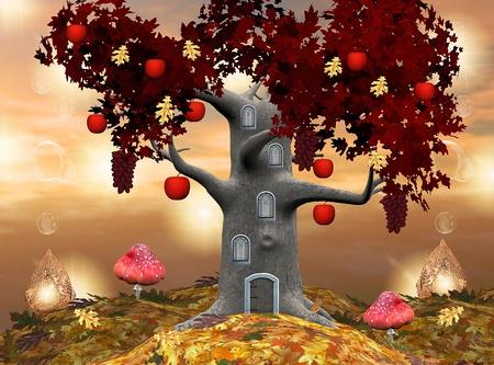 Enchanted nature series - Autumn fruit tree  photo