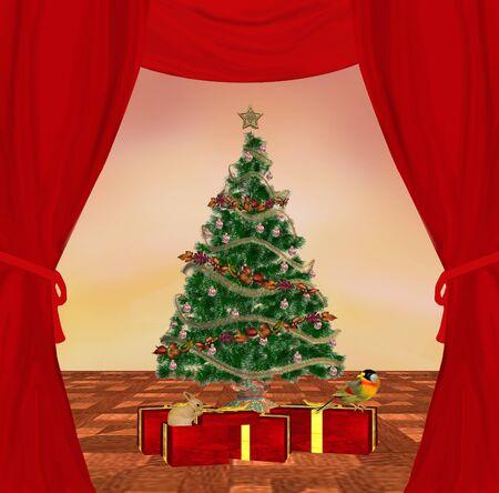 Traditional christmas illustration illustration