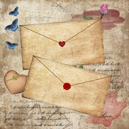 rose butterfly: Vintage love letters