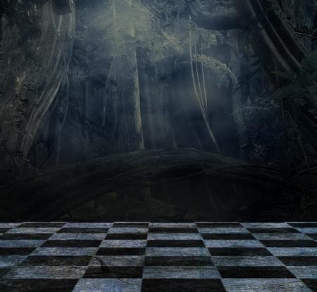 gothique: Fond sombre pour la composition de nature morte