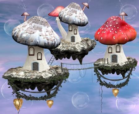 Mushrooms magic town  photo
