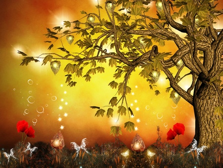 faerie: Enchanted nature series - enchanted tree  Stock Photo