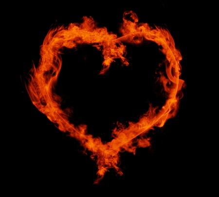 flaming: Flaming heart Stock Photo