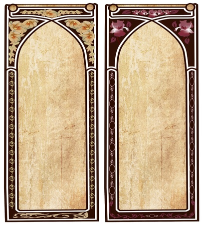 art nouveau frames photo