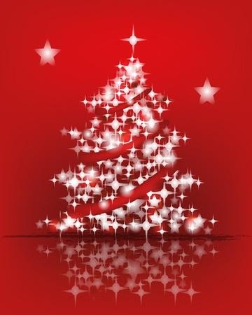 festones: �rbol de navidad hecho de luces