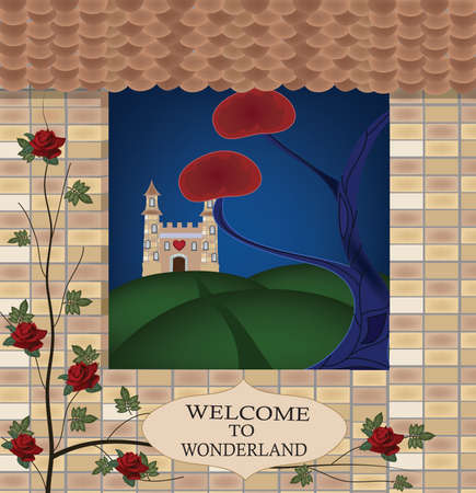wonderland series - welcome to wonderland  Vector