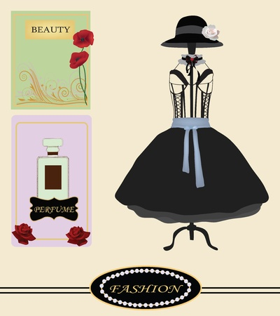 fashion vintage collection  Vector