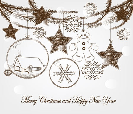 Hand drawn christmas vector  Vector
