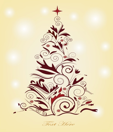 christmas tree with space for text  Vector