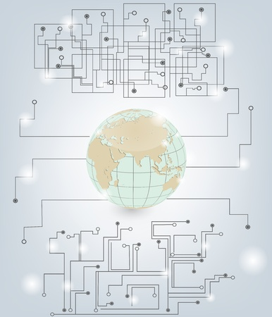 cable de red: concepto de comunicaci�n global