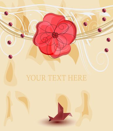 romantic design frame with space for text  Vector