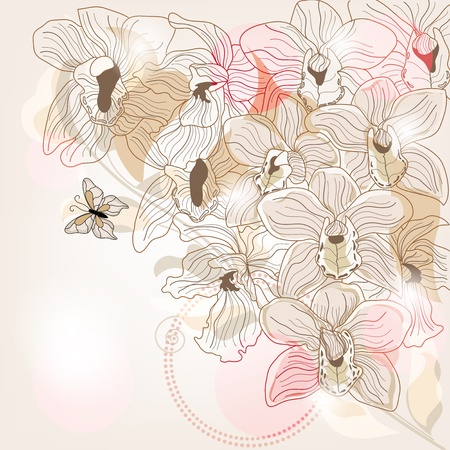 outdoor wedding: Orchid background