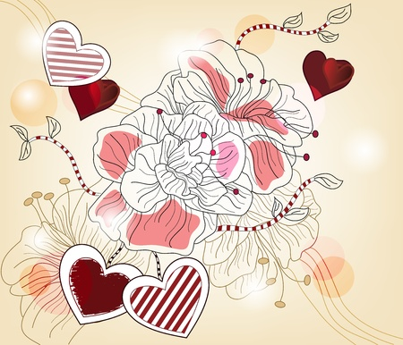 Original valentine composition - layers separated - easily editable Vector