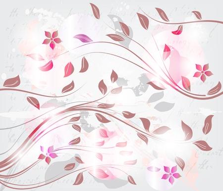flores fucsia: la primavera de fondo