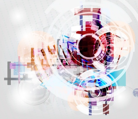 future business: shining high tech background