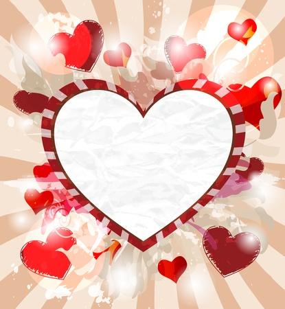 romantic speech bubble Vector