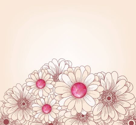 beautiful background with gerbers Vector