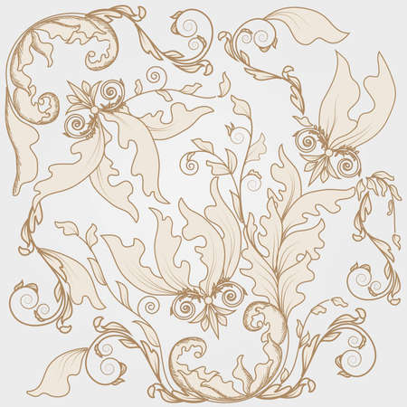 seamless damask texture Vector
