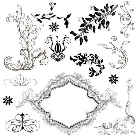 set of precious decorative elements Stock Vector - 12352561