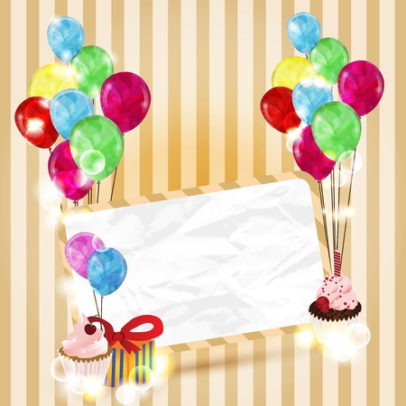 birthday postcard with space for text Vector