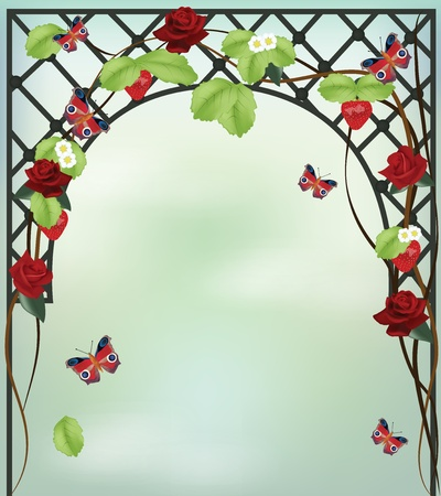 arbor: romantic spring background
