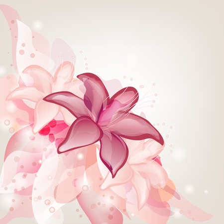 romantic background with lilies Vector