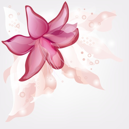 romantic background with abstract lily and space for text Stock Vector - 13241608