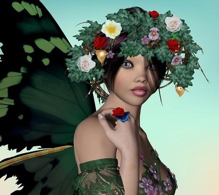 Spring fairy Stock Photo - 13569974
