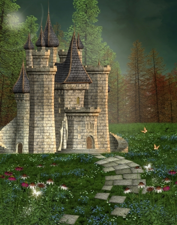 enchanted forest: Fairy tale castle