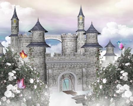 castello medievale: Romantico castello Archivio Fotografico
