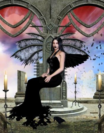 daemon: dark beauty portrait