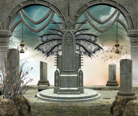 horror castle: gothic background
