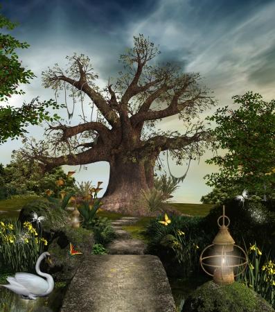 cisnes: Fabuloso jardín