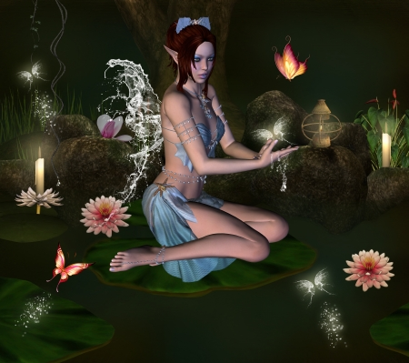 enchanted forest: Secret bath
