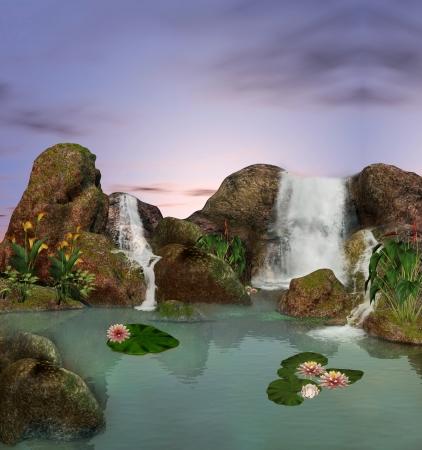 Enchanted nature series - wonderful pond  Stock Photo - 14006212